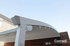 CANVAS FOR PERGOLA COVER | aluminium pergola pergotenda flux by corradi Aluminium pergola from ... Aluminum Pergola, Pergola Cover, Covered Pergola, Landscaping, Canvas, Outdoor Decor, Design, Home Decor, Tela