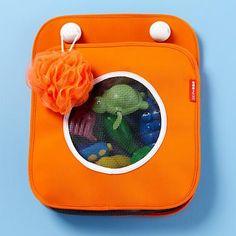 Kids' Bath Safety & Accessories: Kids Blue & Orange Bath Tub Toy Organizer in Bath Safety & Accessories