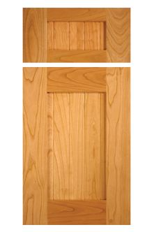 Shaker style cabinet door with center stile in Select Alder by ...