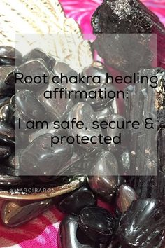 Root Chakra Healing Crystals I am safe, secure & protected