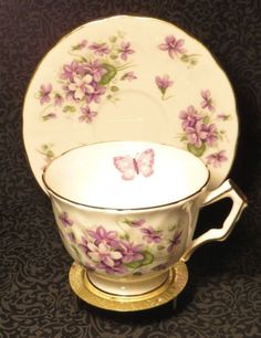Teacup with a butterfly.