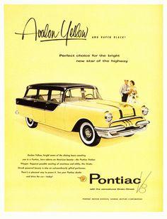Pontiac-Bumble Bee paint scheme. Station Wagon, Retro Cars, Vintage Cars, Vintage Auto, Retro Vintage, General Motors, Dodge, Retro Advertising, Vintage Advertisements