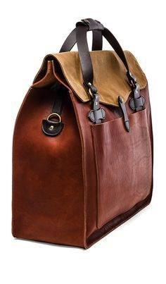 Filson Large MXS Leather Tote in Cognac no price...