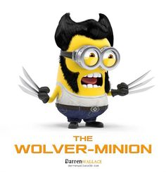 Minions dressed up as Pop Cultura characters - Wolverine