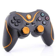 Orange Stripe Wireless Bluetooth Game Controller for Sony PS3 Playstation3 Black #UnbrandedGeneric