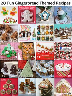 20 Gingerbread Themed Holiday Recipes and Gingerbread House Ideas. Adorable inspiration! LivingLocurto.com