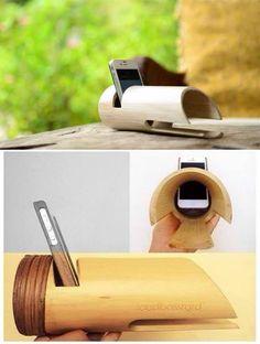¿Te compraste un iPhone/iPod y conociste el mundo de sus caros accesorios? Te tenemos una fácil y rápida solución para las bocinas (buen comienzo). Como bien sabrás, el bambú es hueco por dentro - así que ya tenemos ganada la mayor parte de la batalla,