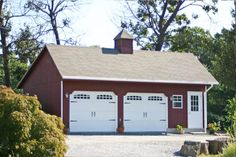 A prefab garage is an excellent way to construct your garage quickly and efficiently. When customers order a prefab garage, it is built at an off site factory. Barn Garage, Garage House Plans, Two Car Garage, Garage Workshop, Workshop Ideas, Garage Studio, Garage Shop, Barn Plans, Shed Plans