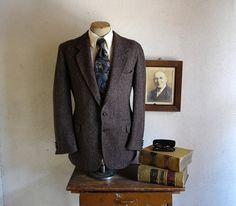 (I LOVE THIS!)1970s HARRIS TWEED Mens Suit Jacket Vintage by TheNakedManVintage, $44.99