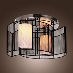 2016-MODERN-SEMI-Ceiling-Light-Chandelier-Flush-Mount-Pendant-Lamp-w-2-Lights