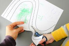 Scissor Adventures + free printables Scissor Skills, Pediatric Ot, Preschool At Home, Pre Writing, Fine Motor, Scissors, Free Printables, Kindergarten, Projects To Try