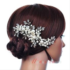 Grace Bridal Wedding Hair Comb Pearl Crystal Hair Clip Hair Accessory Headpiece