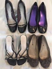 LOT Of Four (4) Pair Assorted Style Women's Shoes Size 11 Good To Very Good Cond