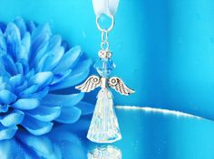 Swarovski Crystal Guardian Angel using Artemus pendant for body