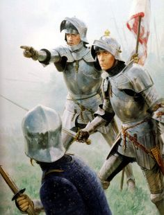 Wars of the Roses  1471 Battle of Barnet - Graham Turner  Richard of Gloucester and his standard bearer try to make out in the fog the forces of Warwick