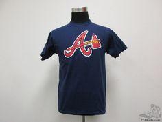 Stitches Atlanta Braves Short Sleeve Crewneck t Shirt sz Youth XL Extra Large  #Stitches #AtlantaBraves
