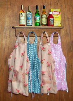 Miniature Kitchen Aprons 1 inch by MarquisMiniatures