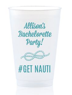 Get your personalized nautical cups! Perfect for bachelorette parties! http://www.foryourparty.com/products/editor/8746