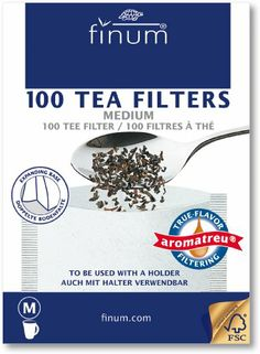 Finum 100 Tea Filters, Medium - http://www.teacoffeestore.com/finum-100-tea-filters-medium/