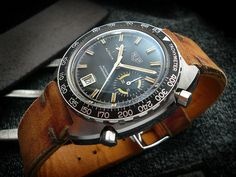 Vintage Heuer watch | leather | strap