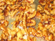 Easy homemade Sweet and Spicy glazed Walnuts.