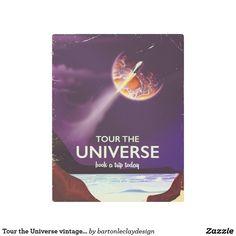Tour the Universe vintage science fiction poster