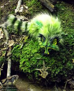 --SOLD-- Hand Made Poseable Fantasy Raccoon! by Wood-Splitter-Lee.deviantart.com on @deviantART