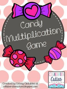 Multiplication Game for Valentine's Day Freebie!