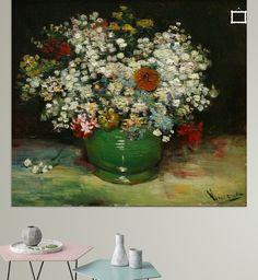 Vaas met Zinnia en andere bloemen - Van Gogh