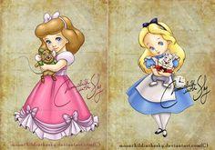 Baby Disney, Disney Pixar, Disney Characters, Disney Princesses, Alice In Wonderland Drawings, Baby Looney Tunes, Disney Valentines, Cartoon As Anime, Baby Shark