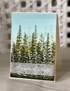 Another Christmas card today and for this one I got a bit arty and had fun with some water and ink! I began with spritzing my heav. Stampin Up Christmas, Christmas Crafts, Christmas Tree, Summer Christmas, Holiday, Stampin Up Cards, Fun Projects, Watercolor Paper, Winter Wonderland
