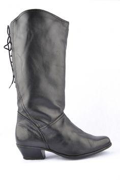 Mooie vintage leren laarzen, maat 37