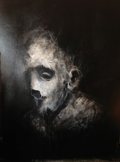 P132  Acrylique, posca sur papier - 48 x 36 cm | Décembre 2012
