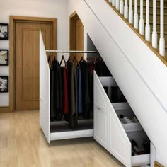 design ideas & pictures l homify : Innovative storage solutions. : Modern corridor, hallway & stairs by Chasewood FurnitureRoom design ideas & pictures l homify : Innovative storage solutions. : Modern corridor, hallway & stairs by Chasewood Furniture Staircase Storage, Hallway Storage, Staircase Design, Storage Under Stairs, Cabinet Under Stairs, Under Stairs Storage Solutions, Closet Under Stairs, Staircase Ideas, Office Storage