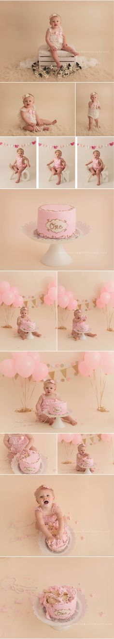 61 New Ideas Baby Photoshoot Girl Diy Cake Smash Baby Cake Smash, 1st Birthday Cake Smash, Baby Girl Birthday, Cake Smash Photography, Baby Girl Photography, Birthday Photography, 1st Birthday Pictures, Cake Smash Photos, Diy For Girls