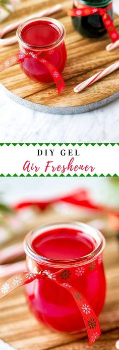 Learn how to make a DIY Gel Air Freshener and keep your home smelling great without harmful toxins.  Perfect for gifts! #holidaygifts #essentialoils via @wendypolisi