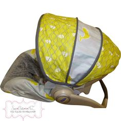 Maritime Modern Grey with Charcoal Infant Carseat Cover
