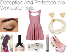 """Deception And Perfection Are Wonderful Traits"" by raaachh ❤ liked on Polyvore"