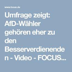 Umfrage zeigt: AfD-Wähler gehören eher zu den Besserverdienenden - Video - FOCUS Online