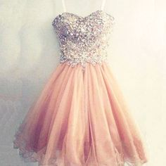 Sparkle Rhinestones Beaded Short Homecoming Dresses Formal Straps Champagne Organza Graduation Dress Party Gown