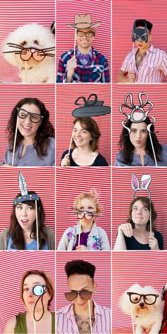 photo booth props - printables