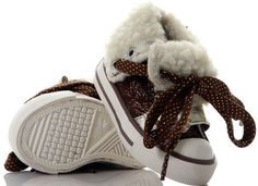 trendy infant shoes brown-ivory