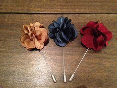 Mens Lapel Flower//Boutonniere// Lapel Pin