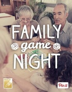 Pick one night a week to turn off the gadgets and play a few games together. A recent survey found 91% of families who played games together improved their mood! @pastafits has ideas for activities and fun game night recipes. [Promotional Pin]