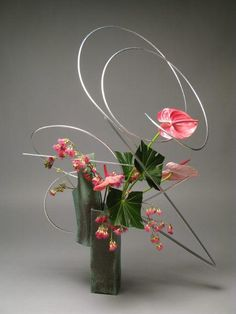 Anthurium ikebana by Gordon Ward