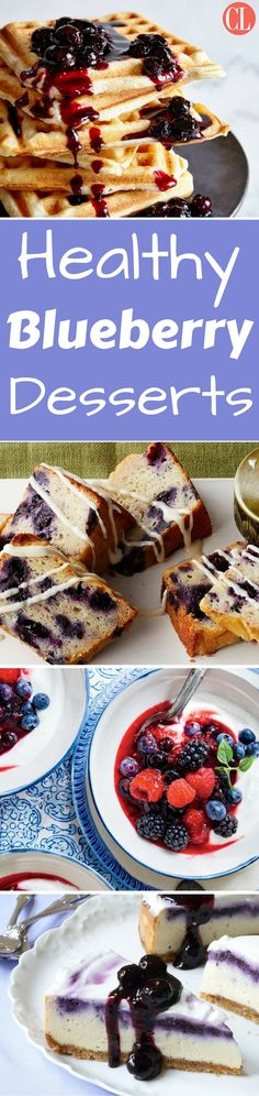 Blueberries are one of the healthiest ways to treat yourself to an after-meal dessert. From pops to pies, here are some of our favorite ways to Healthy Blueberry Desserts, Summer Desserts, Delicious Desserts, Cooking Light, Bite Size, Sweet Recipes, Sweet Tooth, Sweet Treats, Good Food