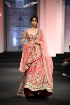 peaches and blush bridal lehengas - Google Search