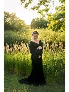 47774e5d33624 Chicaboo Grace Gown- Black Maternity Gowns, Blessing, Maternity Dresses,  Pregnant Dresses