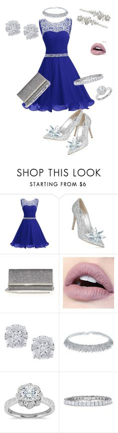 """Glamorous prom"" by brittanywalker2001 ❤ liked on Polyvore featuring Jimmy Choo, Effy Jewelry, Zac Posen and Robert Rose"