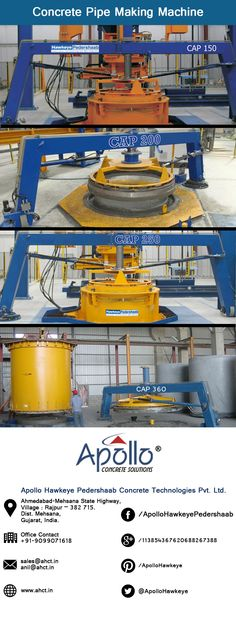 72 Best Concrete Pipe Making Machine by AHCT images in 2019 | Making